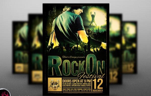 rock festival flyer template1