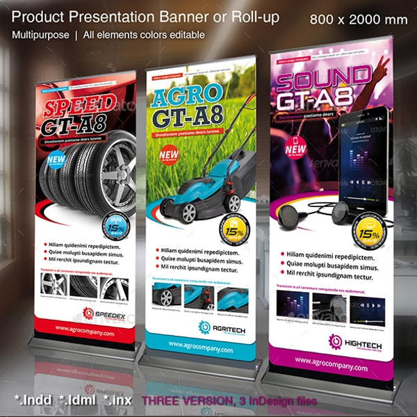 Rollup Product Presentation Designs