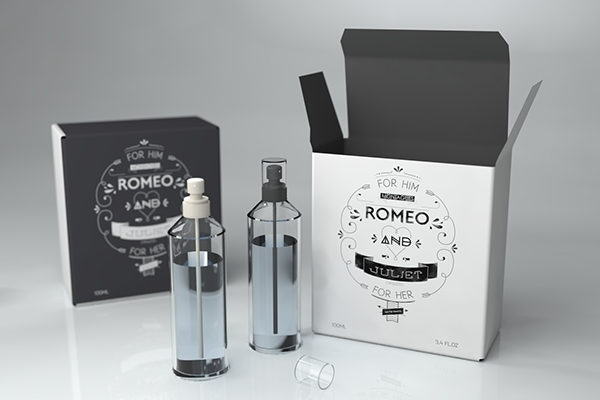 Romeo & Juliet Perfume Pack Packaging