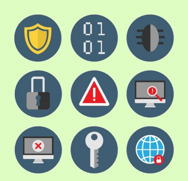 Rounded Safety Graphic Icons