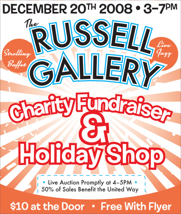 Rusell Gallery Charity flyer