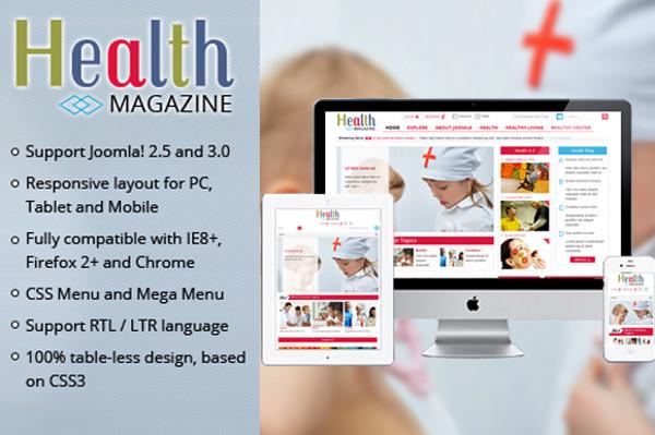 SJ Health - Medical Magazine Template