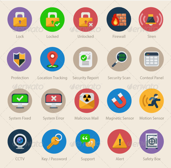 Safety Desktop Icons Pack