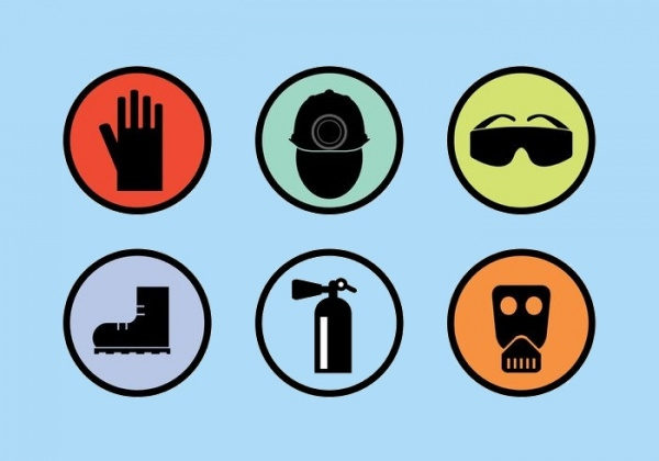 Safety Gear Vector Icons