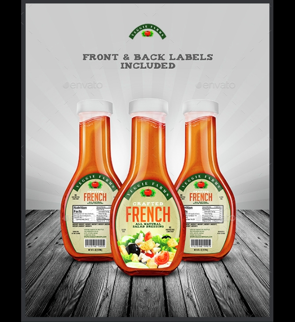 Salad Dressing Bottle Label Template