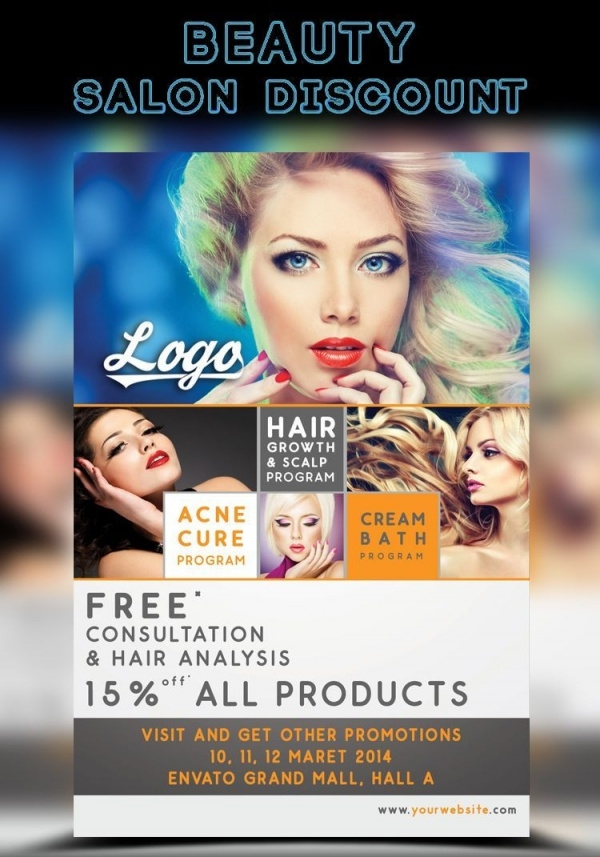Salon Discount Flyer Template