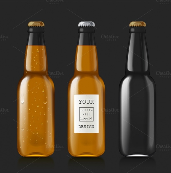 Sample Of Empty Beer Bottles