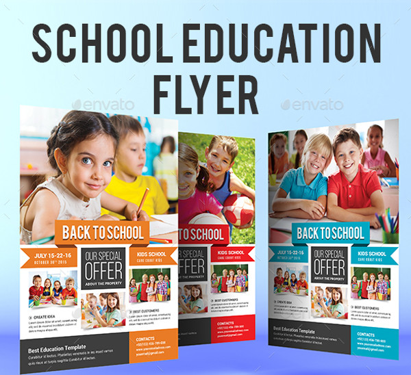 Education Flyer Templates  Psd Vector Eps Jpg Download