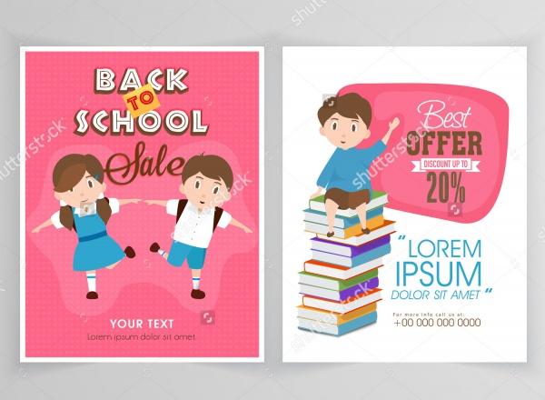 School Open Sale Flyer