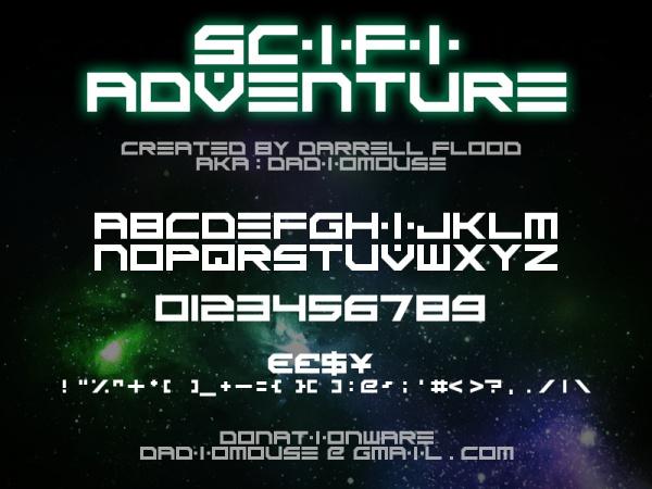 Scifi Adventure Font