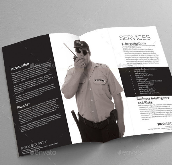 Security A4 Brochure Template