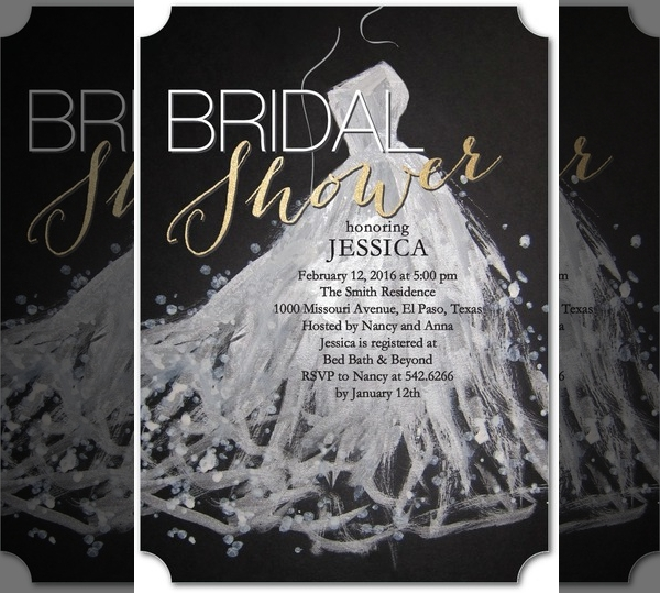 Sequin Splash Bridal Shower Invitation