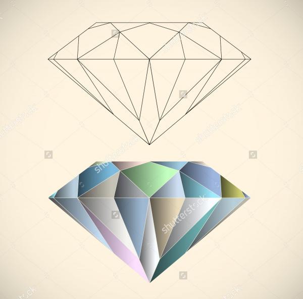 Shining Diamonds Vector Illustration