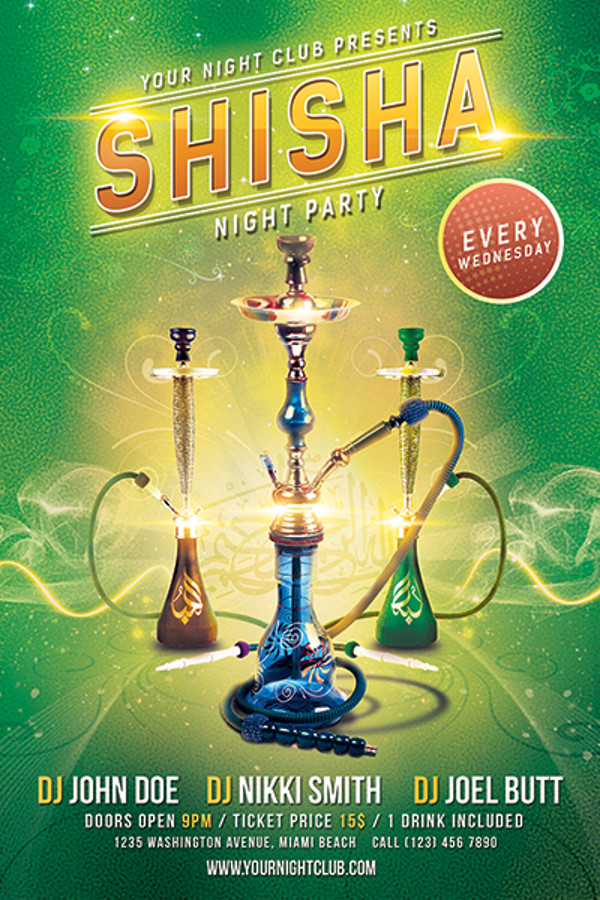 Shisha Night Party Flyer