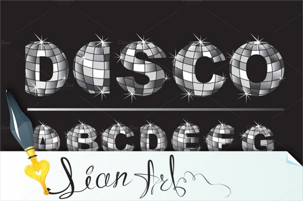 Silver Disco Ball Letters