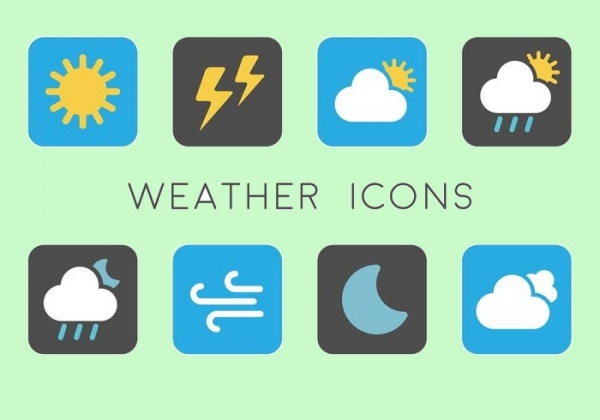 Simple And Minimal Weather Icons
