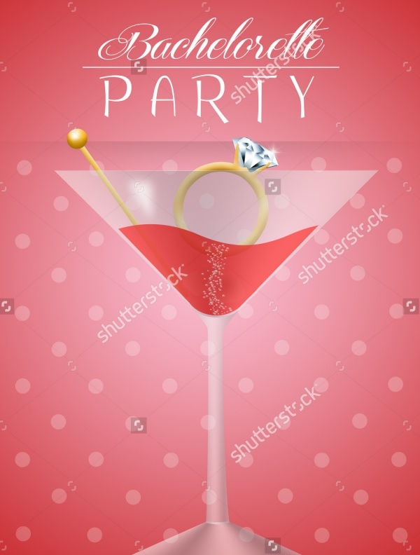 Simple Bachelorette Party Invitation