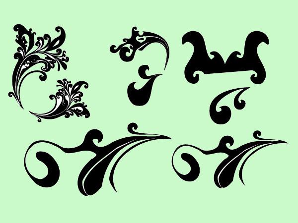 Simple Classic Swirl vectors