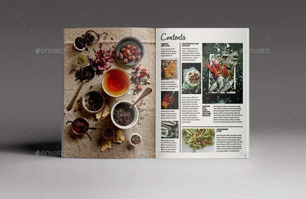 Simple Food Magazine Template