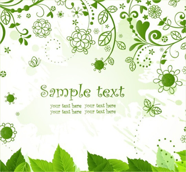 Simple Vine Background Vector