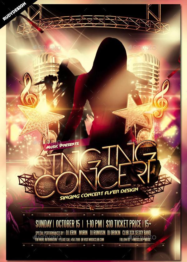 singing concert flyer design