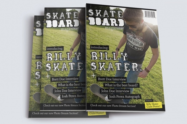 Skateboard Sports Magazine Template