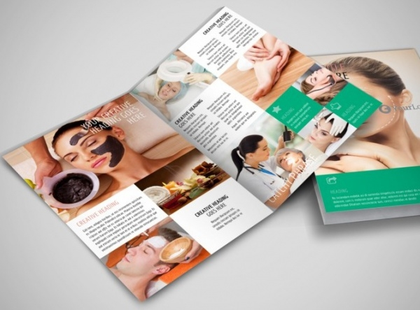 21 cosmetic brochure templates psd vector eps jpg for Clinic brochure template