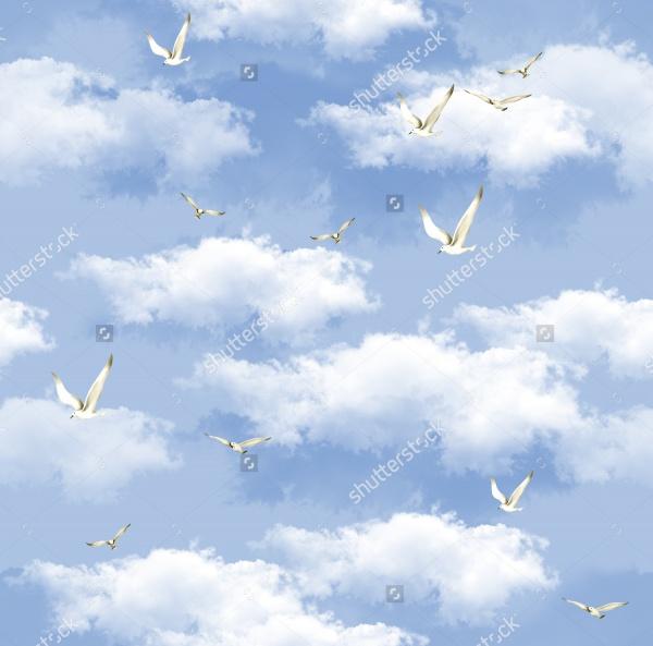 sky vector illustration pattern