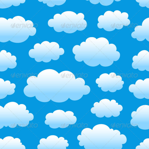 Sky and Cloud Background Pattern