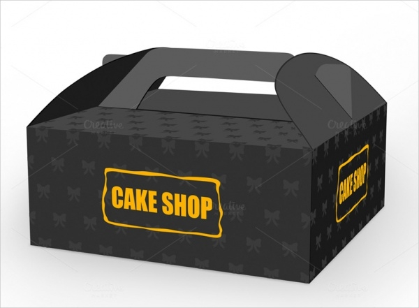Slice Cake Box Packaging Design
