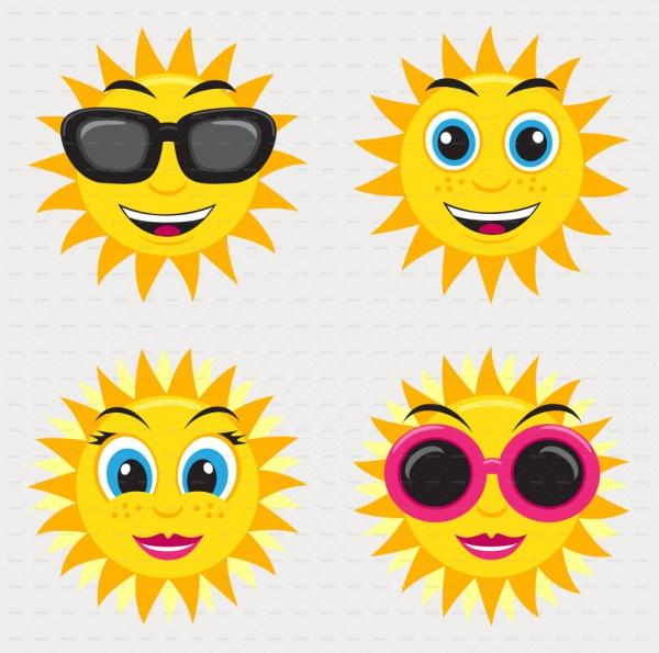 Smiling Sun Illustration