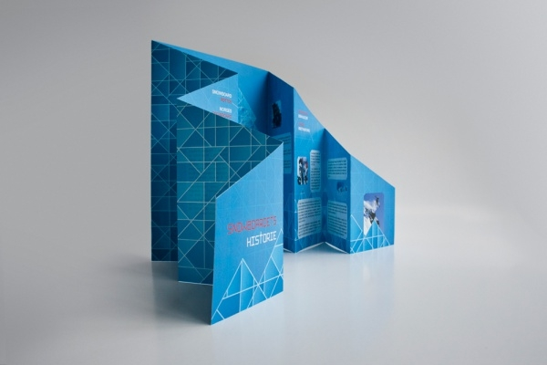 Snow Board Graphic Die Cut Brochure