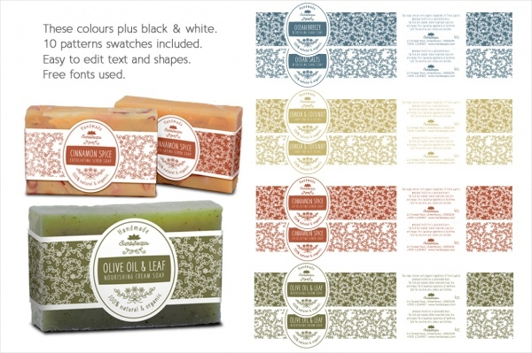 Soap Label Packaging Template