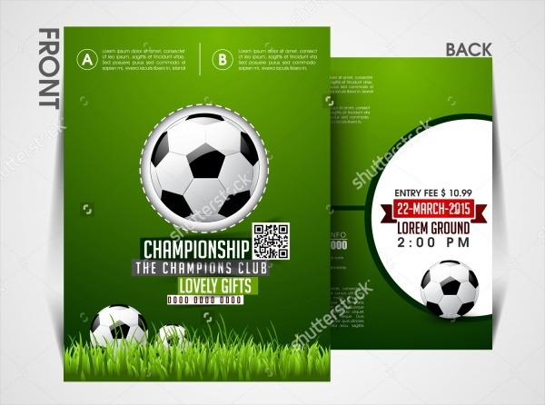 Soccer Event Magazine Cover Template
