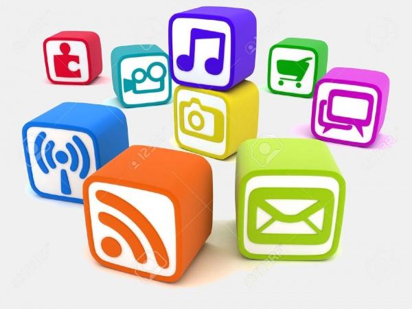 Social Multimedia Cube Button