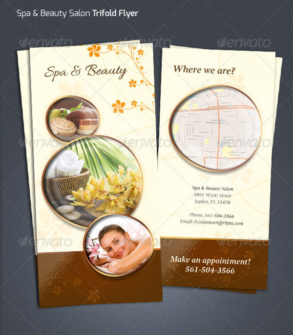 spa salon graphic design flyer