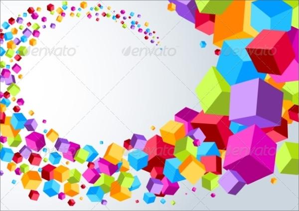 Sparkle Swoosh Cubes Vector
