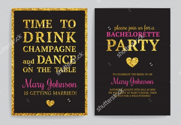 Sparkling Bachelorette Party Invitation