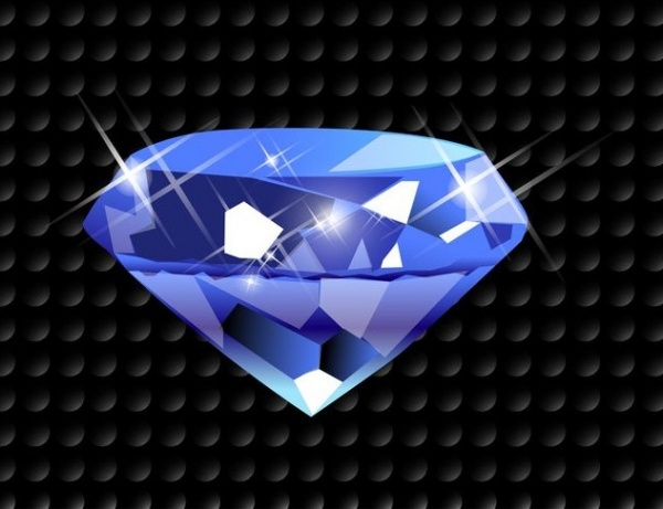 Sparkling Diamond Jewel Vector