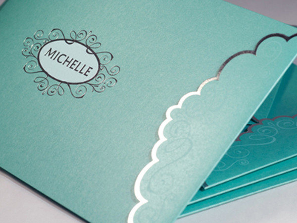Sparkling Die Cut Brochure Cover