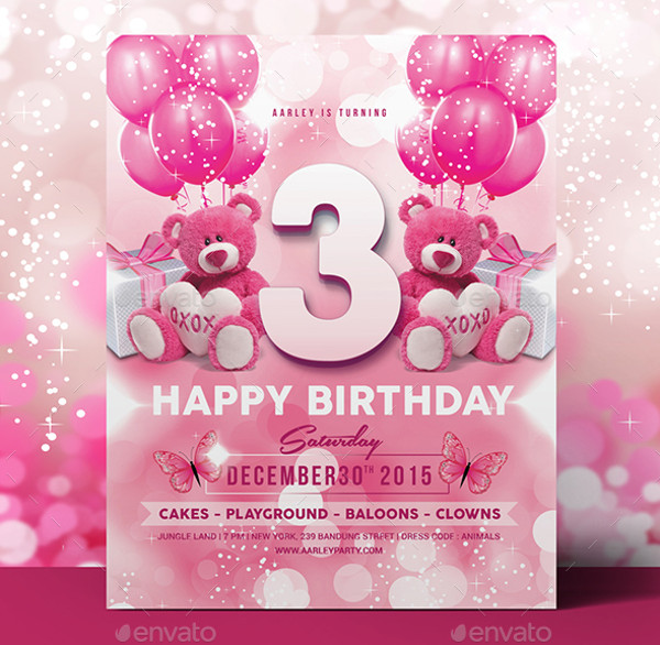 Sparkling Kids Birthday Invitation