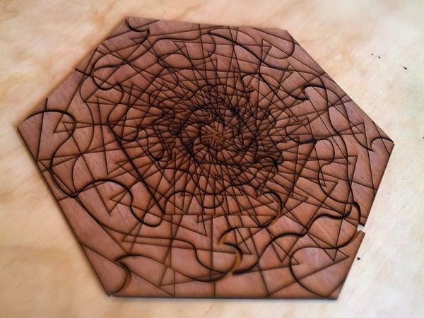 Spiral Puzzle Pattern