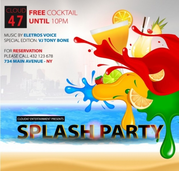 Splash Cocktail Party Invitation