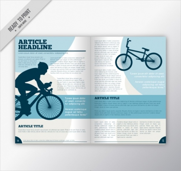 Sport Magazine With Cyclist Design