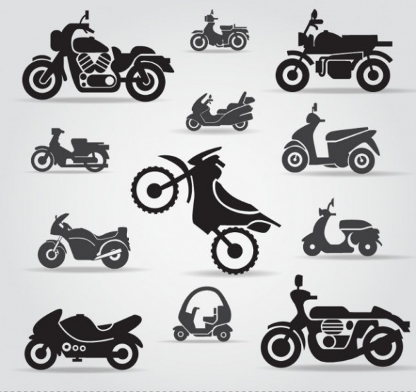 Sport Motorcycle icons free