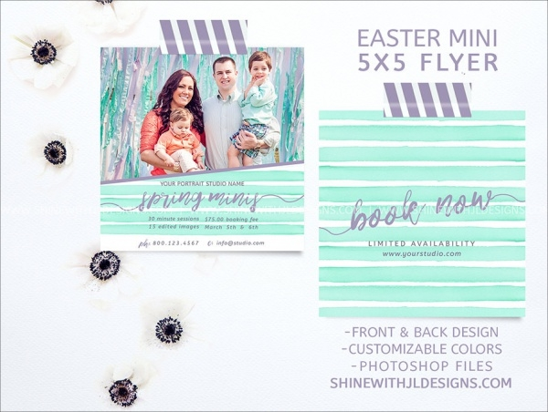 Spring Mini Holiday Flyer Design