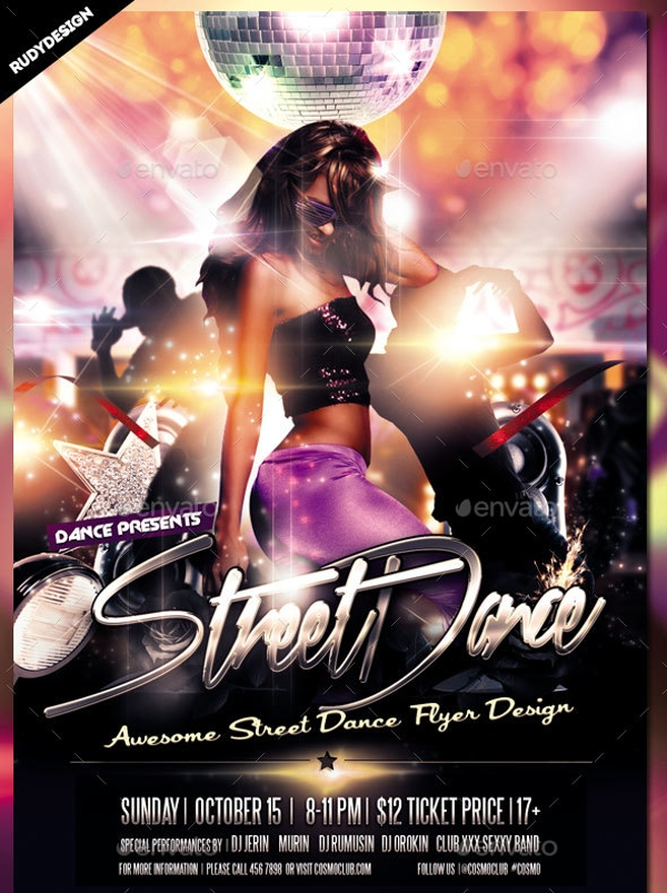 Street Dance Hip Hop Party Flyer