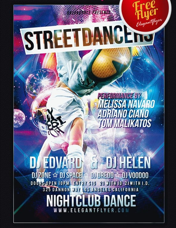 Street Dancers Hip Hop Flyer PSD Template