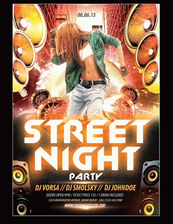 Street Night Party Flyer