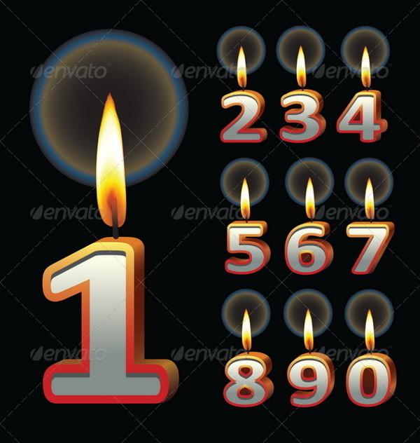 Stunning Birthday Candle Vector